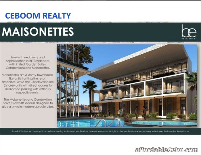 1st picture of 3 Storey Townhouse Facing Pool Amenity at BE Residences Lahug For Sale in Cebu, Philippines
