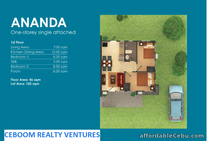 2nd picture of Amoa by Aboitiz Ananda Model Bungalow For Sale in Cebu, Philippines