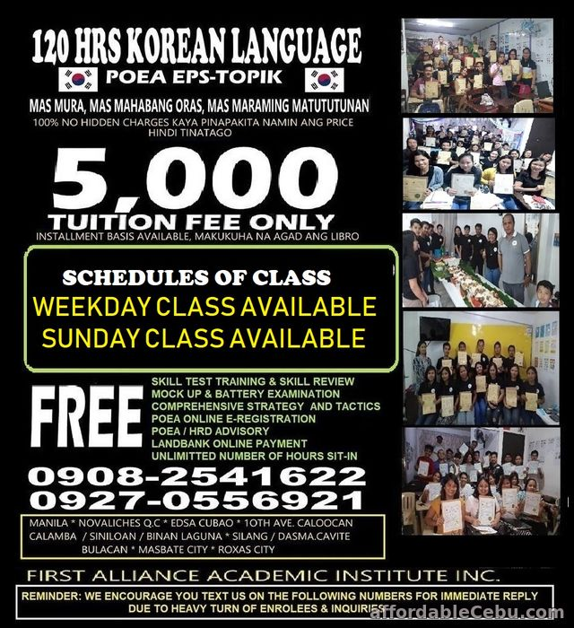 1st picture of LEARN KOREAN LANGUAGE Offer in Cebu, Philippines