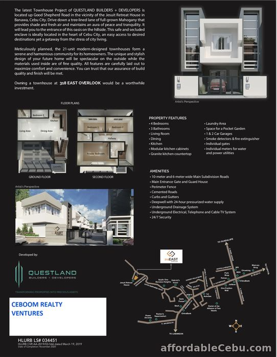 2nd picture of 318 East Overlook Townhouse in Banawa For Sale in Cebu, Philippines
