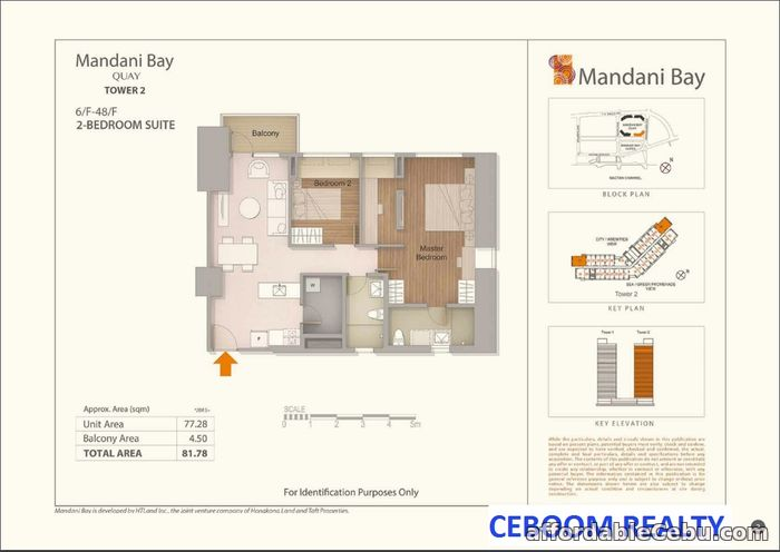2nd picture of Mandani Bay Quay 2 Bedrooms Semi furnished For Sale in Cebu, Philippines