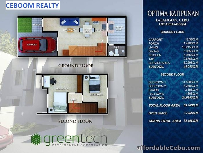 3rd picture of 2 BR Modern Zen Townhouse for sale in Katipunan Labangon For Sale in Cebu, Philippines