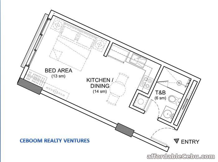 3rd picture of 32 Sanson Condominium Studio Lahug Cebu For Sale in Cebu, Philippines