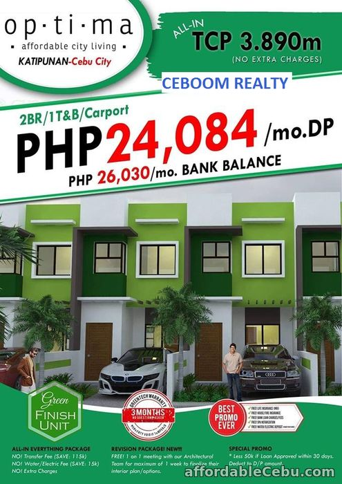 1st picture of 2 BR Modern Zen Townhouse for sale in Katipunan Labangon For Sale in Cebu, Philippines