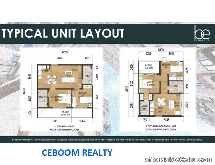 2nd picture of Be Residences 2 BR City View at Lahug Cebu For Sale in Cebu, Philippines