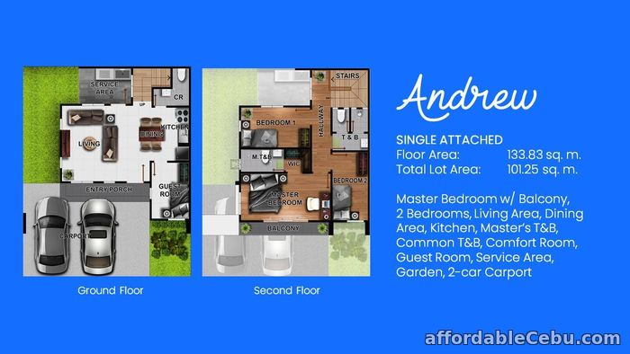 2nd picture of Breeza Scapes Subd in Looc Lapulapu - Andrew Single Attached For Sale in Cebu, Philippines