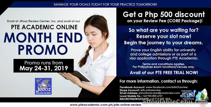 1st picture of JROOZ PTE Academic Online Month End Promo May 24-31, 2019 Offer in Cebu, Philippines
