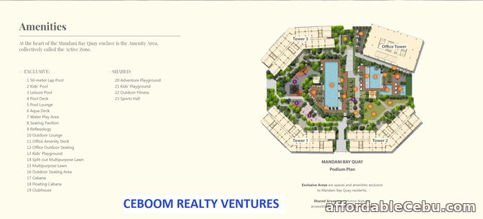 4th picture of 2 Bedrooms Mandani bay Quay - click me For Sale in Cebu, Philippines