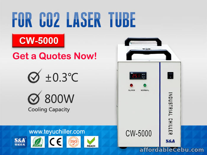 1st picture of CW5000 Water Chiller for CO2 Laser Cutting Machine 220/110V 50/60Hz For Sale in Cebu, Philippines