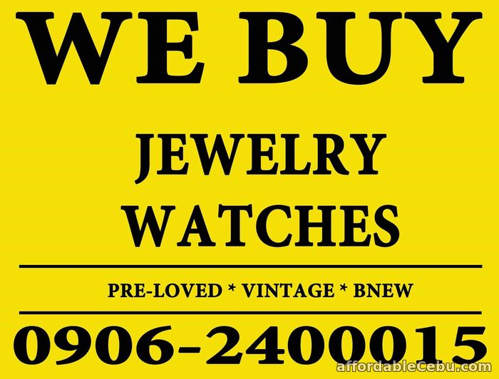 1st picture of DIRECT BUYER OF JEWELRY, DIAMOND, GOLD AND SWISS WATCHES. Wanted to Buy in Cebu, Philippines