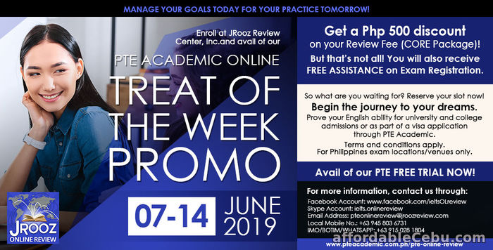 1st picture of JROOZ PTE Academic Online Treat of the Week Promo June 7-14, 2019 Offer in Cebu, Philippines