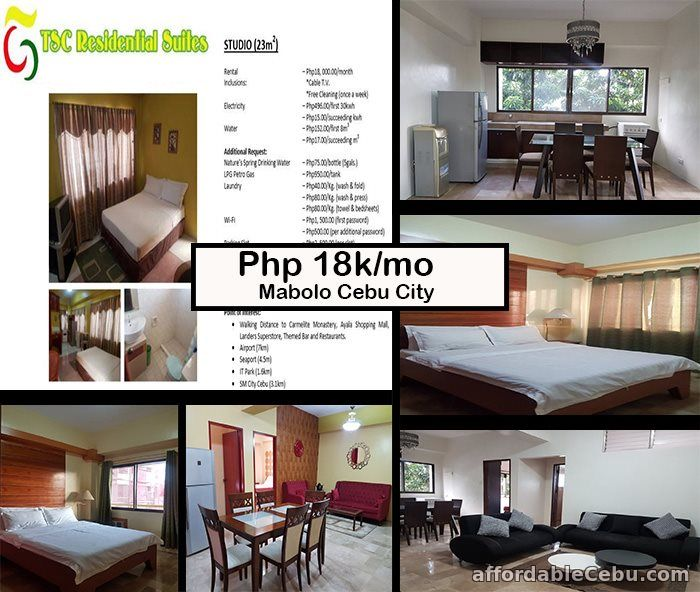 1st picture of Semi-Furnished Studio, 2BR and 3BR Units for rent For Rent in Cebu, Philippines