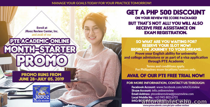 1st picture of JROOZ PTE Academic Online Month-Starter Promo June 28 – July 5, 2019 Offer in Cebu, Philippines