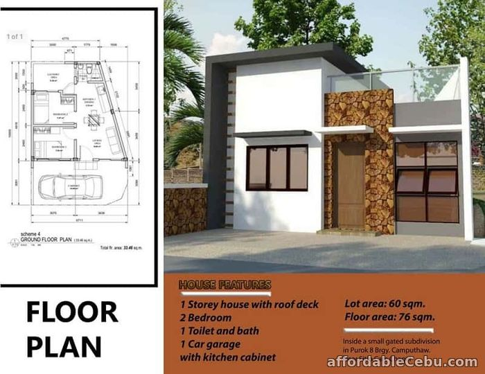 2nd picture of One Storey Single Attached House for sale at Kamputhaw Cebu City For Sale in Cebu, Philippines