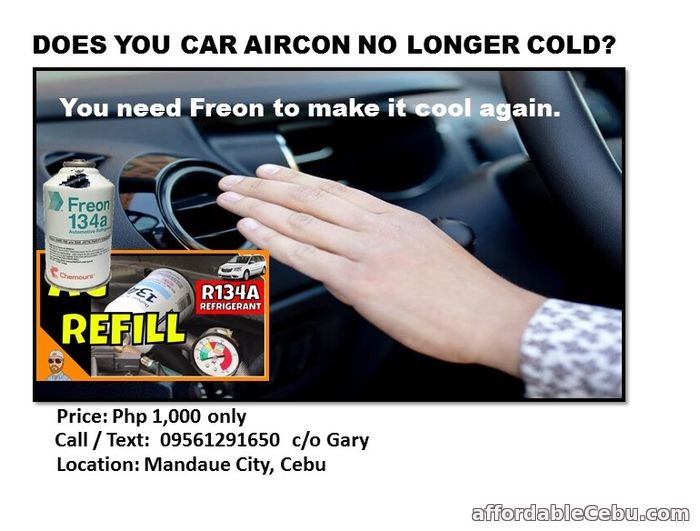 1st picture of CAR FREON CHARGING Offer in Cebu, Philippines