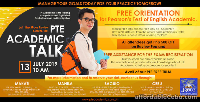 1st picture of JROOZ PTE Academic Talk July 13, 2019 Offer in Cebu, Philippines