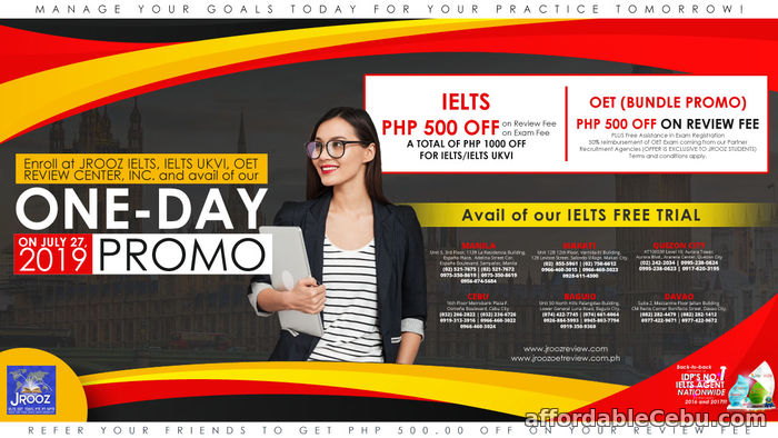 1st picture of JROOZ ONE DAY PROMO on July 27, 2019 Offer in Cebu, Philippines