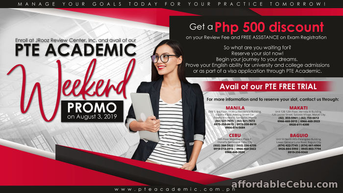 1st picture of JROOZ PTE ACADEMIC WEEKEND PROMO August 3, 2019 Offer in Cebu, Philippines