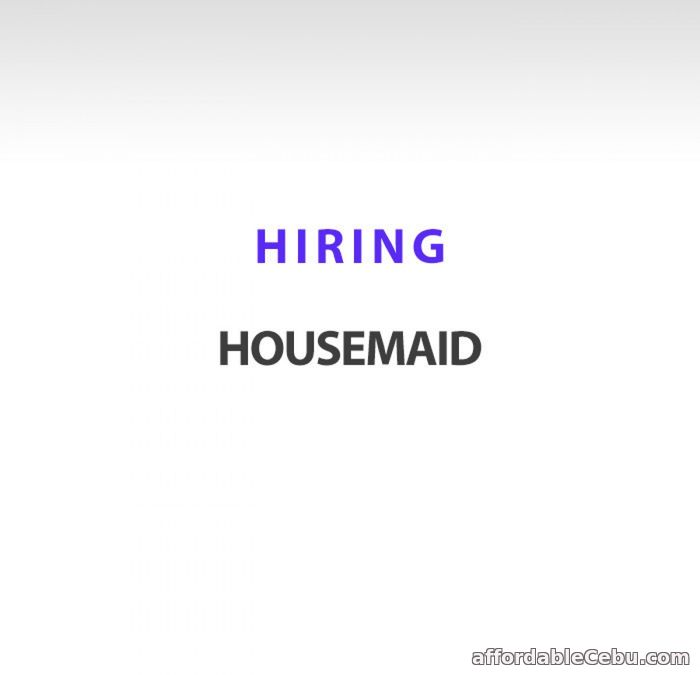1st picture of Looking for a trustworthy housekeeper to work in Saudi Arabia Looking For in Cebu, Philippines