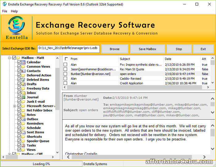 1st picture of Exchange mailbox EDB to PST converter software Offer in Cebu, Philippines