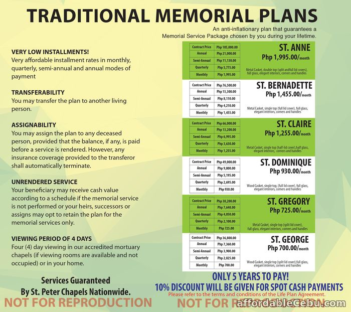 1st picture of Memorial Plans 5 Offer in Cebu, Philippines