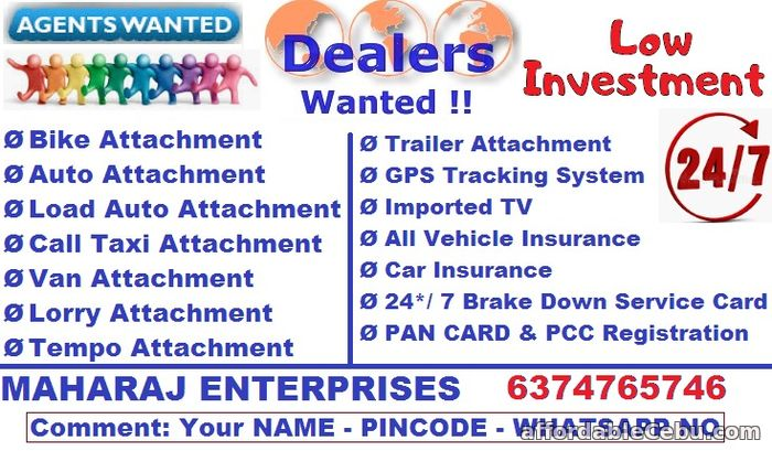 1st picture of Dealers Wanted, Agency Wanted, Franchisee Need, Business offer, DSA, Sales agency, Collection Agency, Delivery Agency Looking For in Cebu, Philippines