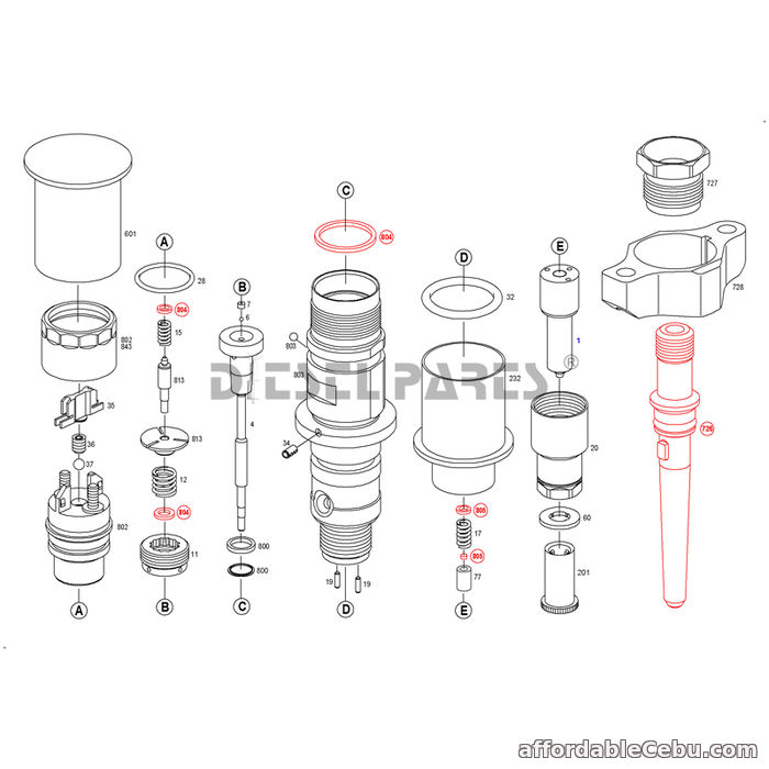 1st picture of Yuchai YC6J common rail fuel injector 0 445 120 110 for Engine For Sale in Cebu, Philippines