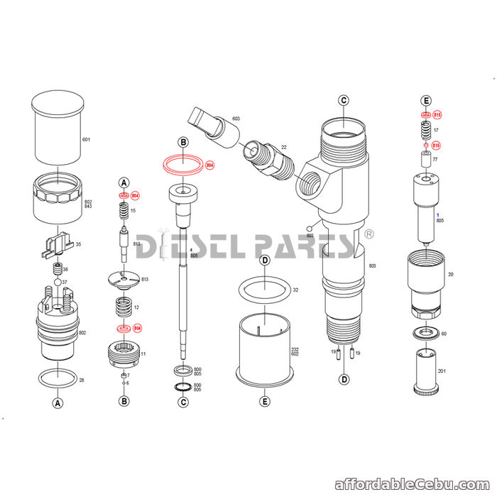 1st picture of Buy CAT CR Injectors 326-4700 Caterpillar Fuel Injectors For Sale For Sale in Cebu, Philippines