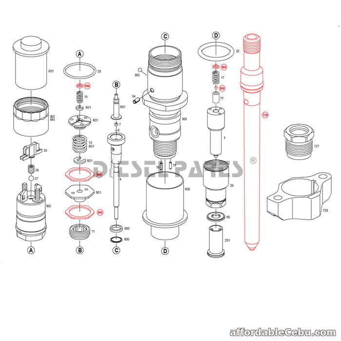 1st picture of aftermarket cummins injectors common rail 0445120007 for DAF TRUCKS For Sale in Cebu, Philippines