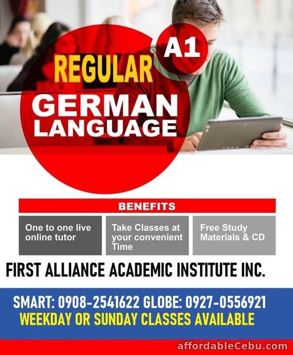 1st picture of German Language Announcement in Cebu, Philippines