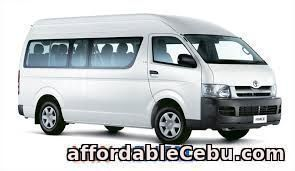 1st picture of Van for rent For Rent in Cebu, Philippines
