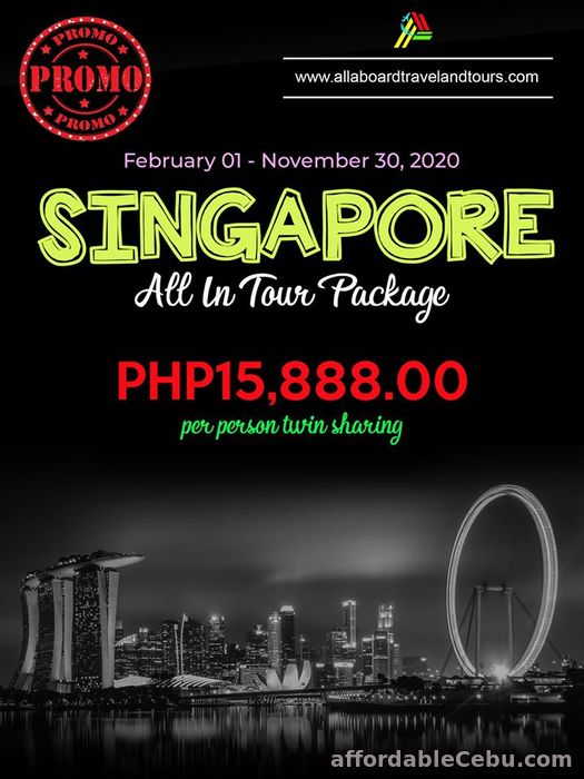 1st picture of Singapore Free All-In Tour Package For Sale in Cebu, Philippines