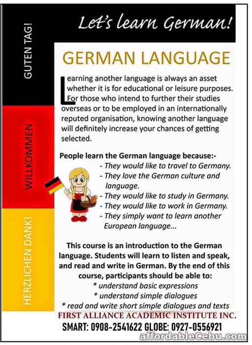 1st picture of Learn German Language Offer in Cebu, Philippines