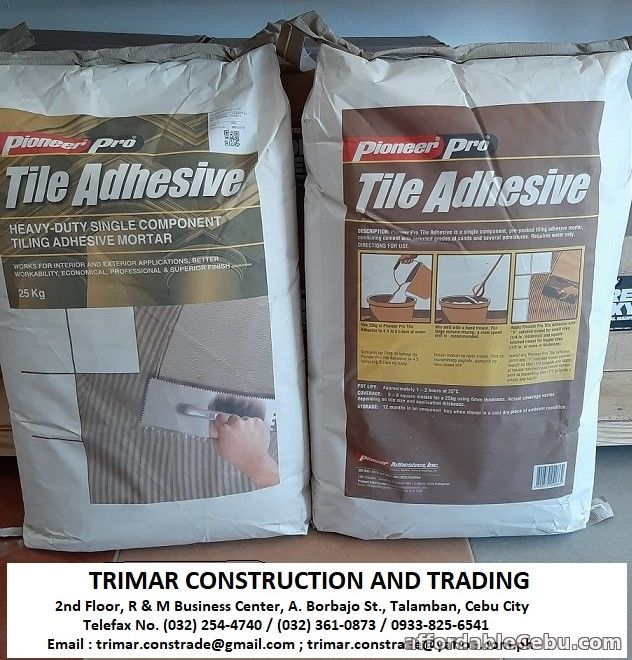 1st picture of Cebu Tile Adhesive Supplier For Sale in Cebu, Philippines