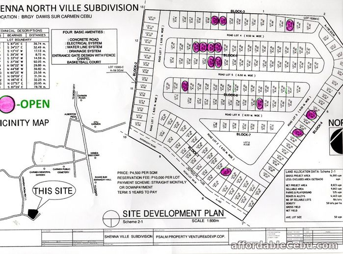 4th picture of Shenna North Ville Subdivision(LOT ONLY) Brgy. Dawis Sur, Carmen For Sale in Cebu, Philippines