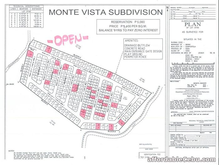 4th picture of Monte Vista Subdivision(LOT ONLY) Basak, Compostela Cebu For Sale in Cebu, Philippines
