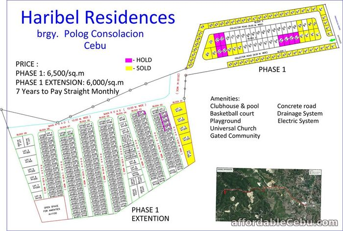 5th picture of Haribel Residences(LOT ONLY) Brgy. Polog, Consolacion, Cebu, Philipines For Sale in Cebu, Philippines