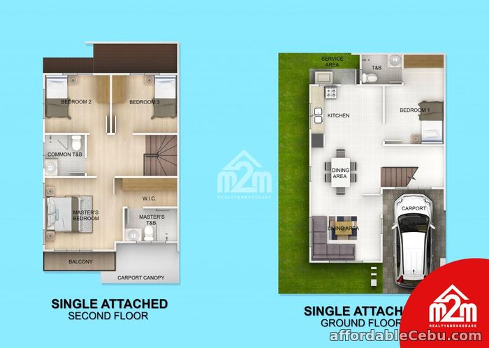 2nd picture of Woodway Townhomes-Phase 2(ATTACHED UNIT) Pooc, Talisay City For Sale in Cebu, Philippines