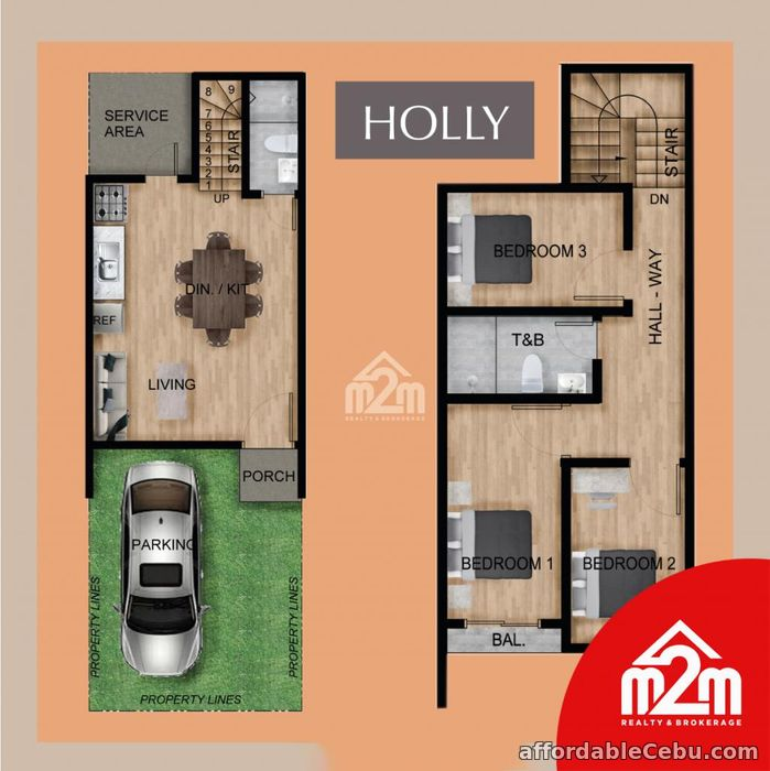 4th picture of Elkwood Homes(HOLLY MODEL) Tabunok, Talisay, Cebu, Philipines For Sale in Cebu, Philippines