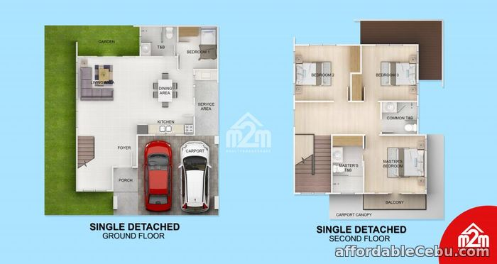 2nd picture of Woodway Townhomes-Phase 2(DETACHED UNIT) Pooc, Talisay City, Cebu For Sale in Cebu, Philippines