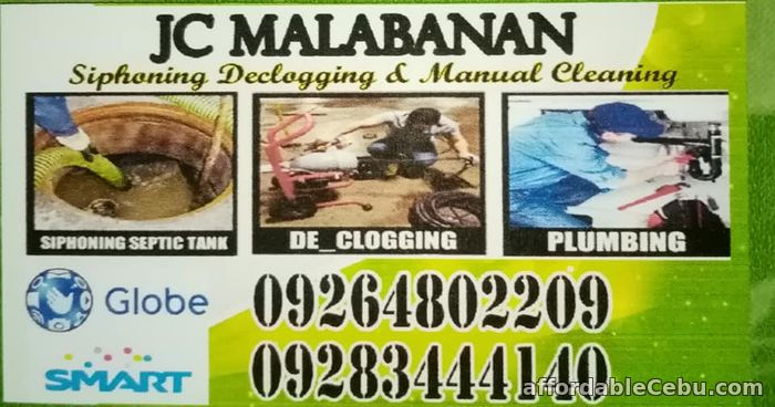1st picture of JCS MALABANAN 09283444140 SIPHONING DECLOGGING MANUAL CLEANING PLUMBING SERVICES Offer in Cebu, Philippines