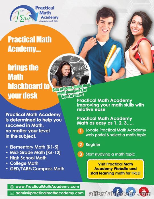 1st picture of Introducing Practical Math Academy Offer in Cebu, Philippines
