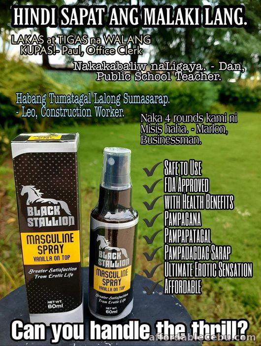 3rd picture of Black Stallion Masculine Spray and Gel For Sale in Cebu, Philippines