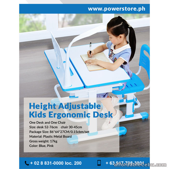 1st picture of Height Adjustable kids ergonomic desk For Sale in Cebu, Philippines