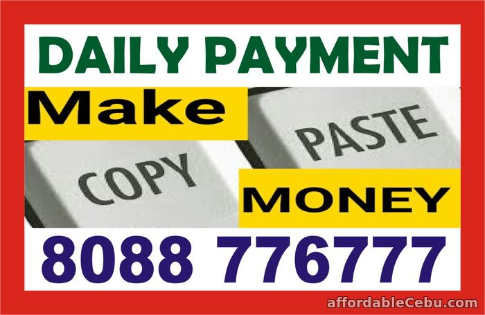 1st picture of Copy paste job | Daily payout | Work from Home | 1387 | Offer in Cebu, Philippines
