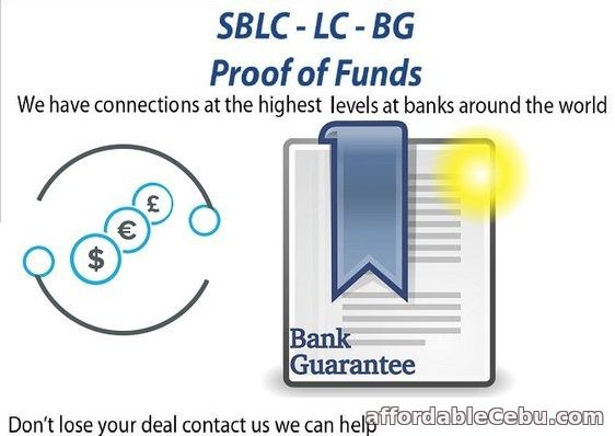 1st picture of Bank Guarantee/SBLC/MT760,Financing,Loan,Monetizing,PPP Trading + More. Offer in Cebu, Philippines