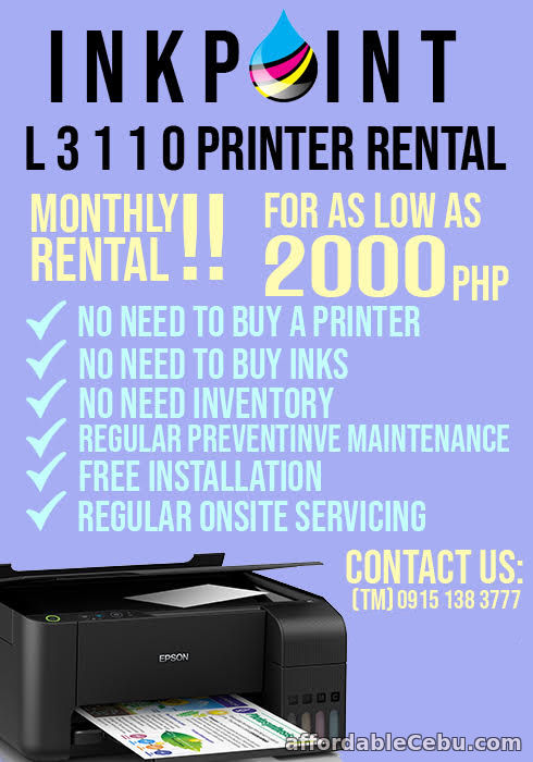 1st picture of Printer for Rent Cebu Printer Rental For Rent in Cebu, Philippines