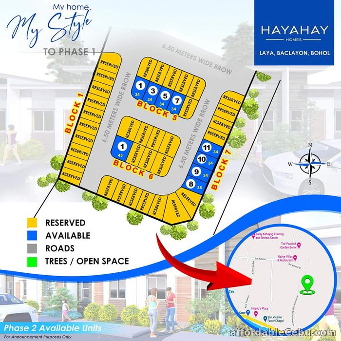 3rd picture of Hayahay Homes(1-Single Storey ) Laya, Baclayon, Bohol For Sale in Cebu, Philippines