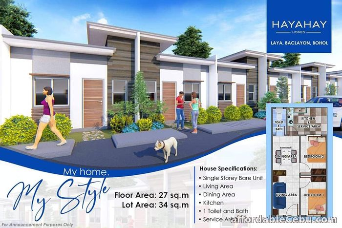 2nd picture of Hayahay Homes(1-Single Storey ) Laya, Baclayon, Bohol For Sale in Cebu, Philippines