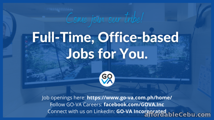 1st picture of Office Based Job: Graphic Designer - GO Virtual Assistants Offer in Cebu, Philippines